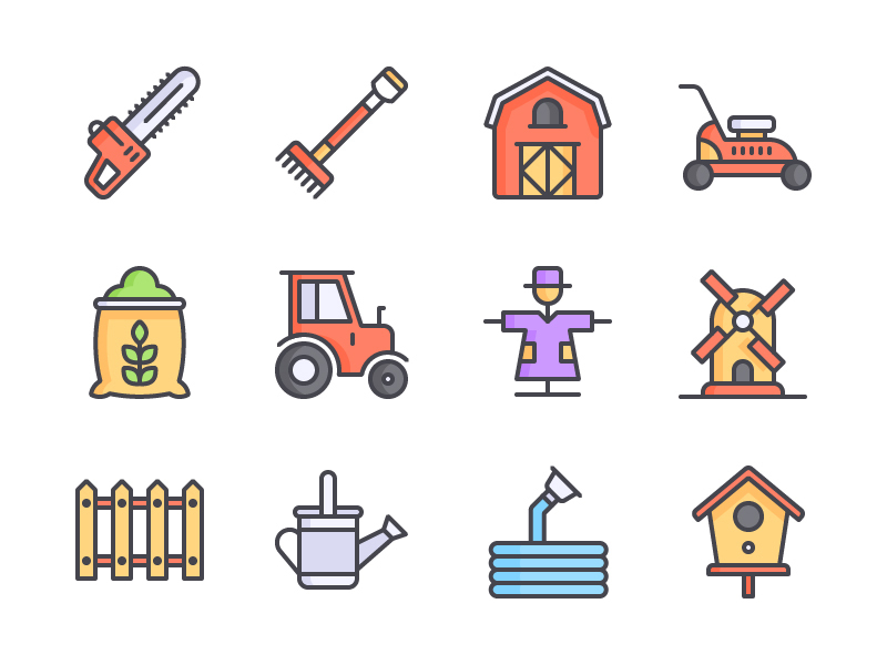 Farm Icon Set preview picture