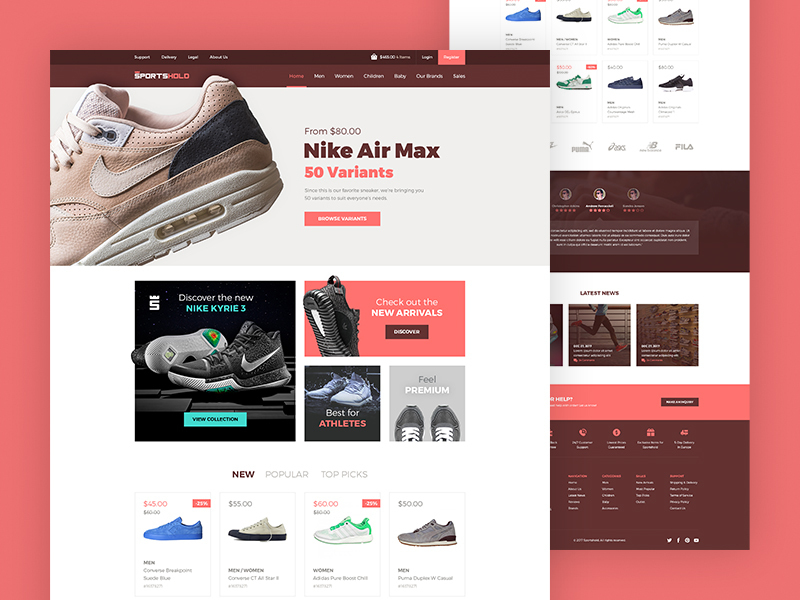 E-commerce Landing Page preview picture