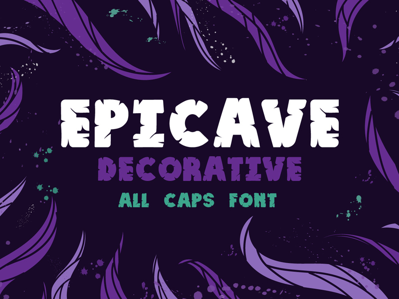 Epicave All Caps Display Free Font preview picture