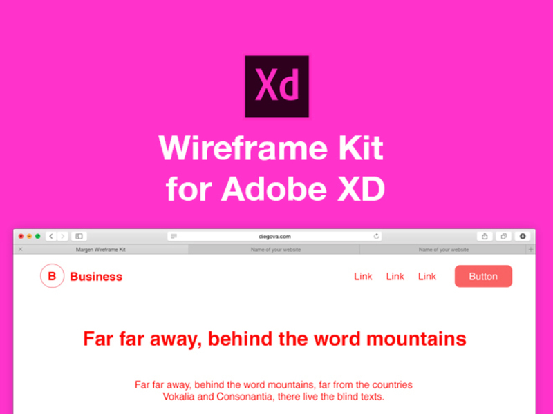Margen Wireframe Kit for Adobe XD preview picture