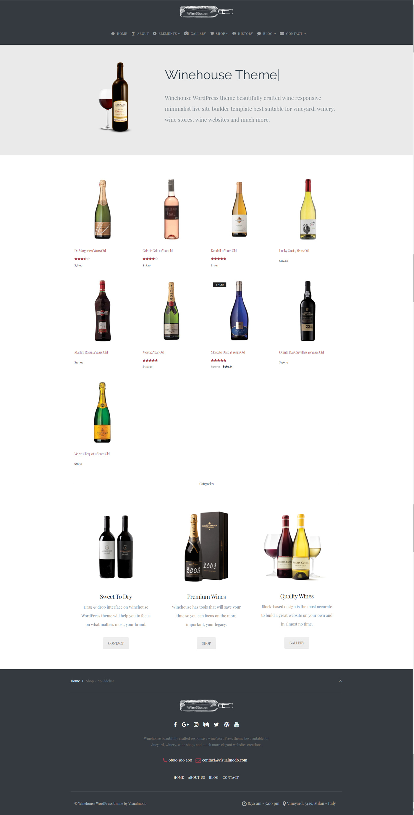 Winehouse WordPress Theme