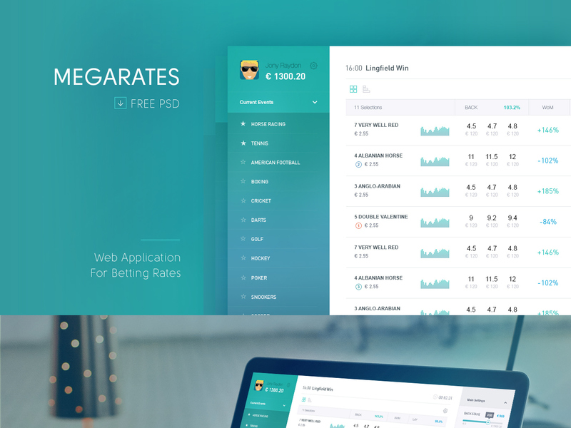 Megarates Betting Web App preview picture