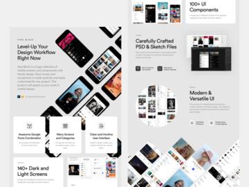Vera Block - Free Mobile UI Kit for Sketch & Photoshop