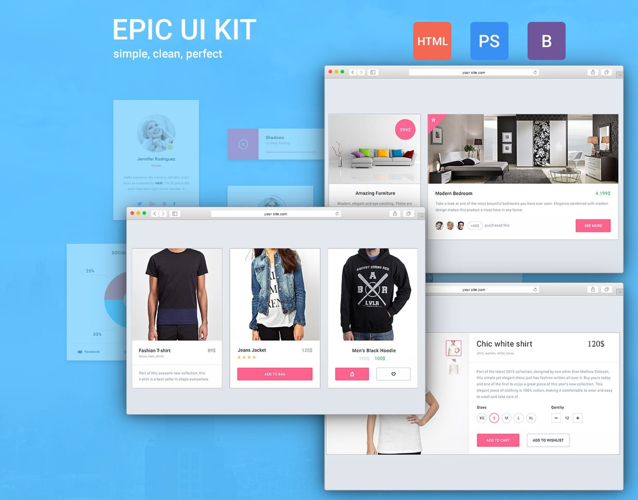 Epic UI Kit + Bootstrap Theme