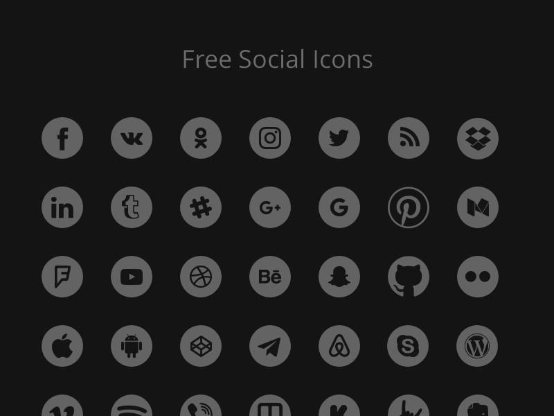 100 Free Social Icons