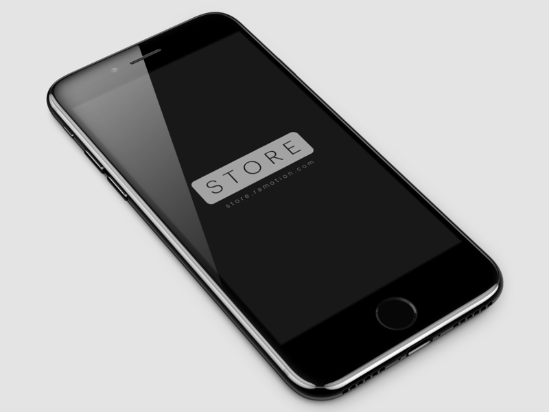 iPhone 7 Jet Black Free Mockup [PSD]