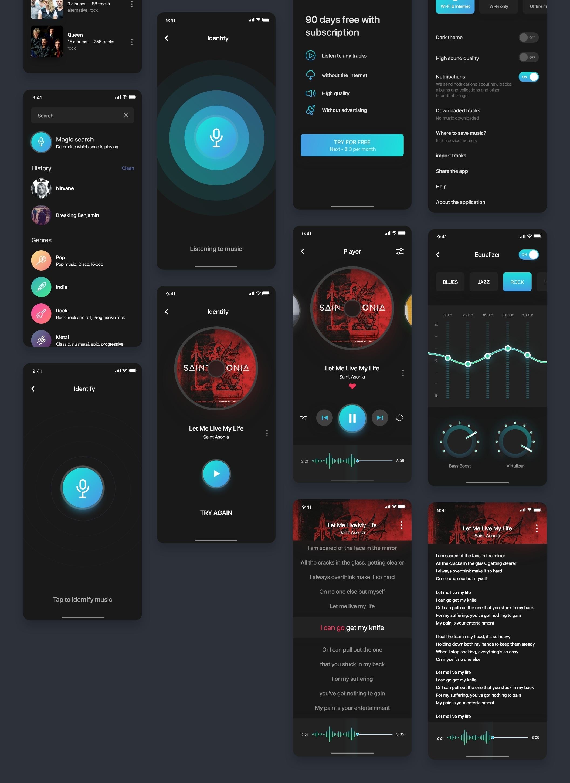 Aura Music Service UI Kit