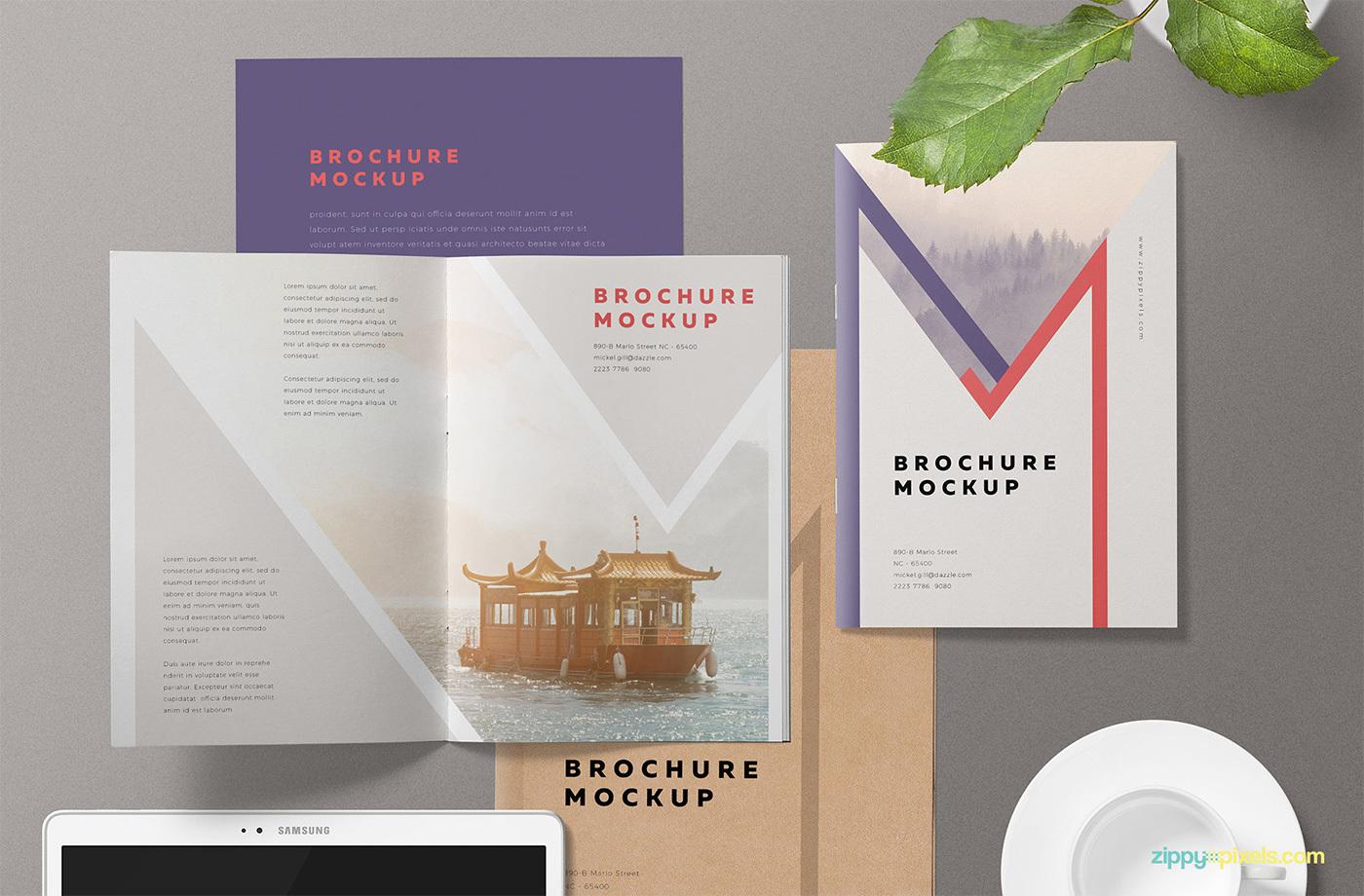 Free A5 Brochure Mockup PSD