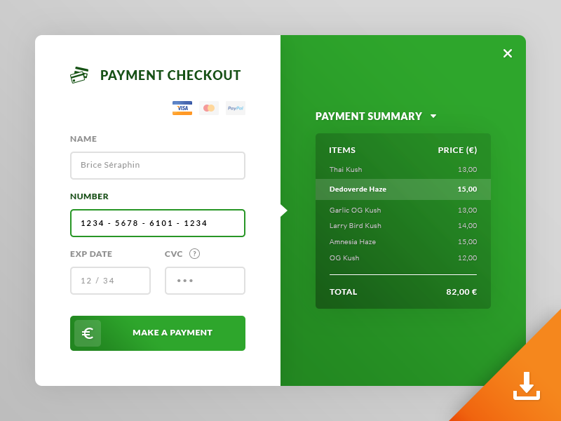 Payment Checkout UI preview picture