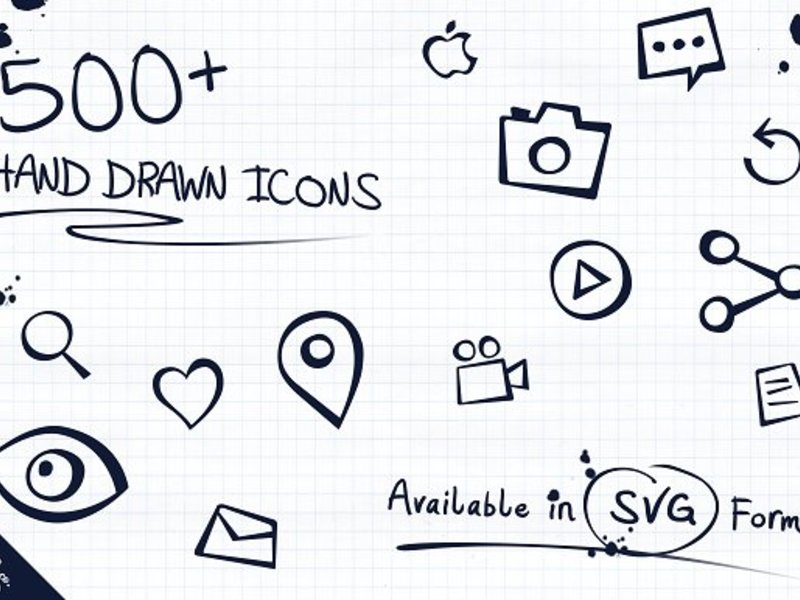 500+ Epic Hand Drawn Icons preview picture