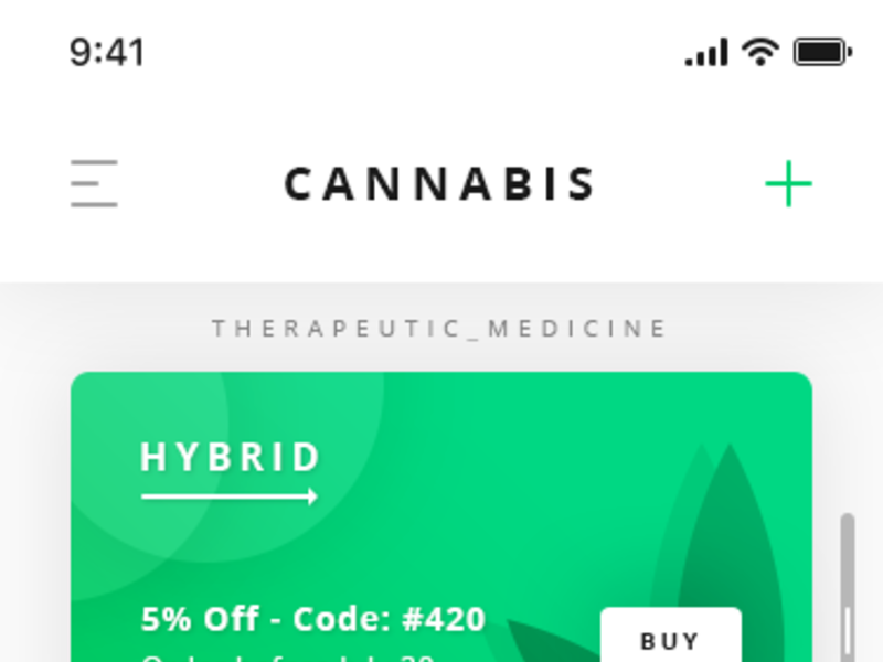 Cannabis Dashboard App