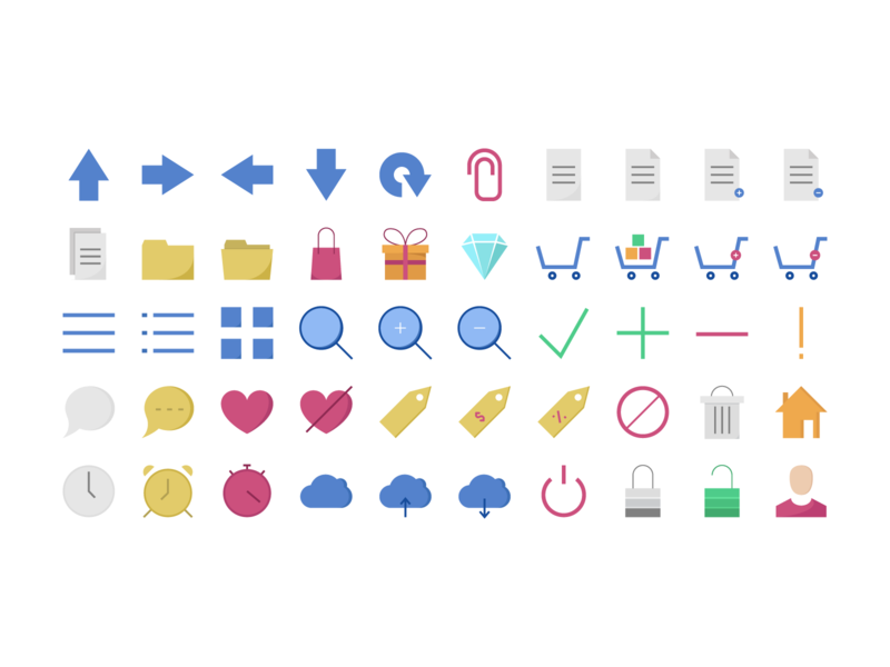 Web Icons 7 Styles preview picture