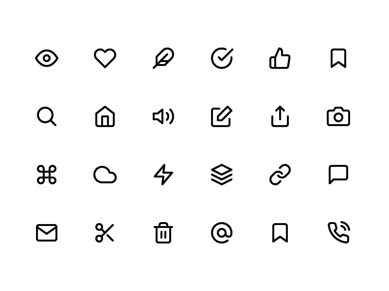 Feather - 200+ Free Icons