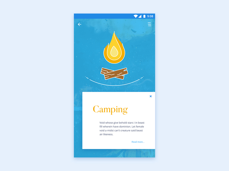 Camping Illustration App UI preview picture