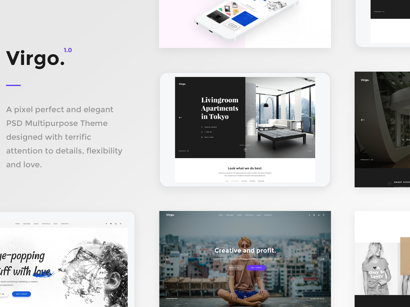 Virgo - PSD Multipurpose Template preview picture
