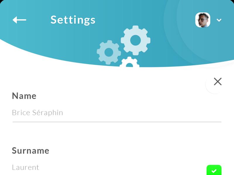 Edit Settings Profile App