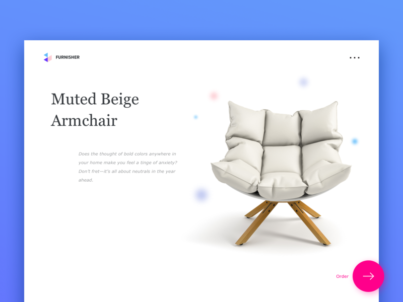Furniture UI Page