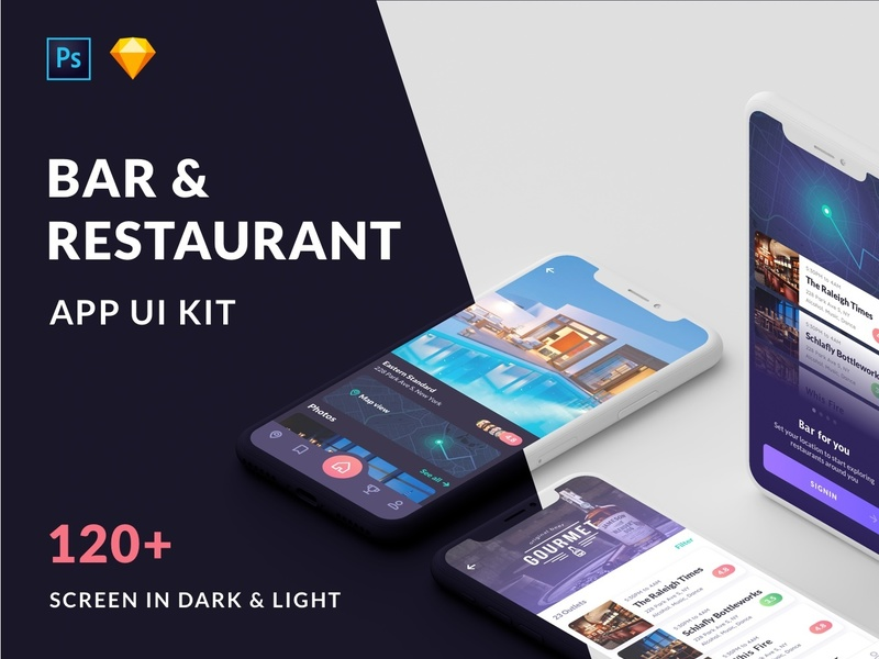 Cabar iOS UI Kit 120+ Screen - Restaurants, Bar and Coffee preview picture