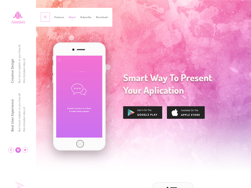 Amniax FREE App Landing Page