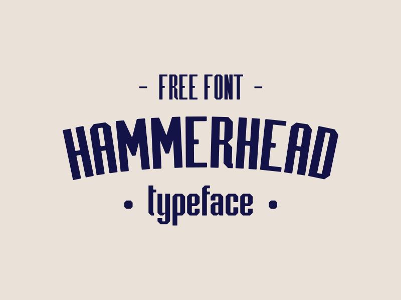 Hammerhead free typeface
