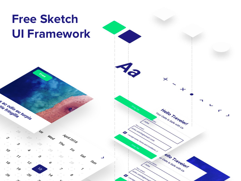 UI Framework - Sketch Freebie preview picture