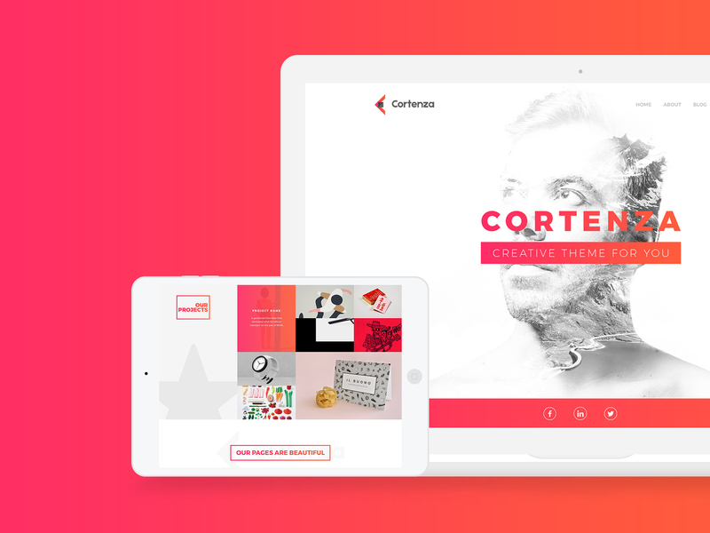 Cortenza - Creative Agency PSD Template preview picture