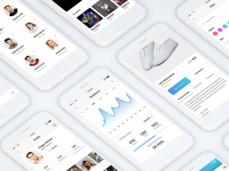 Sobo Mobile ui kit preview picture