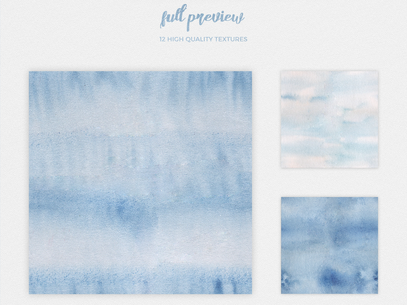 Watercolor Seamless Textures - Blue Pack