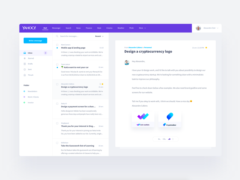 Yahoo Mail Redesign - UI Kit preview picture
