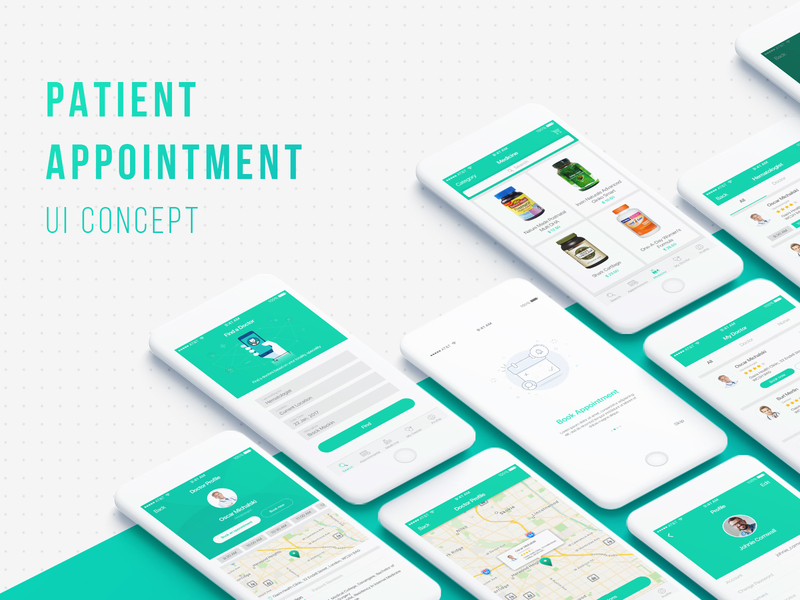 Patient Appointment Mobile UI Kit preview picture