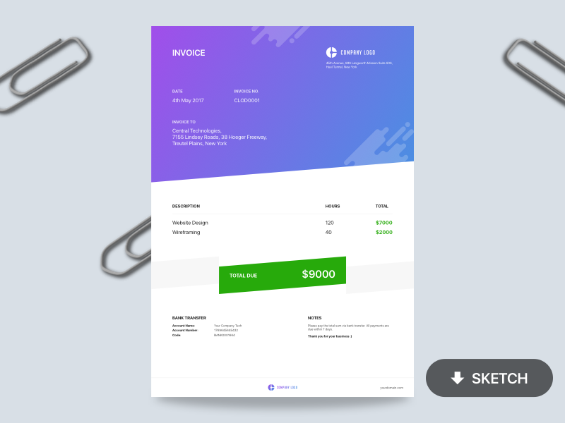 Invoice - Free Template preview picture