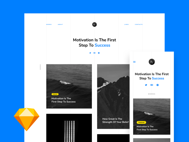 Portfolio – Free Landing page preview picture