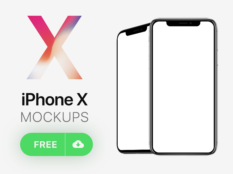 iPhone X Mockups preview picture