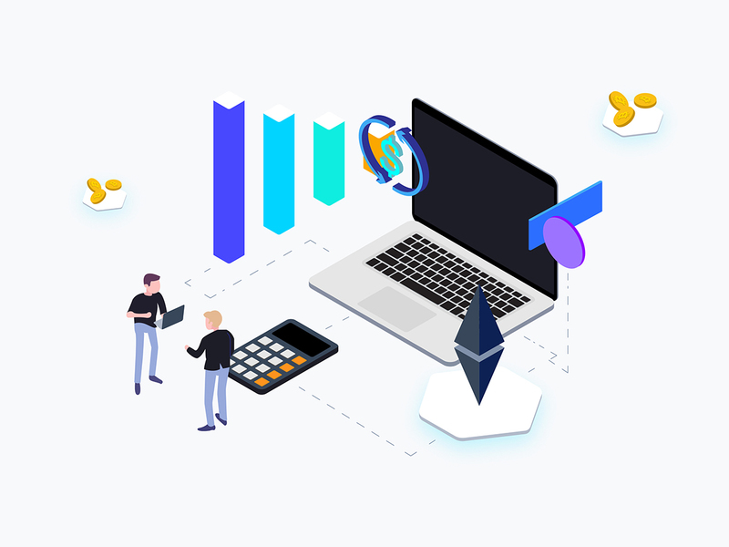 Isometric Graphic Trading Coin