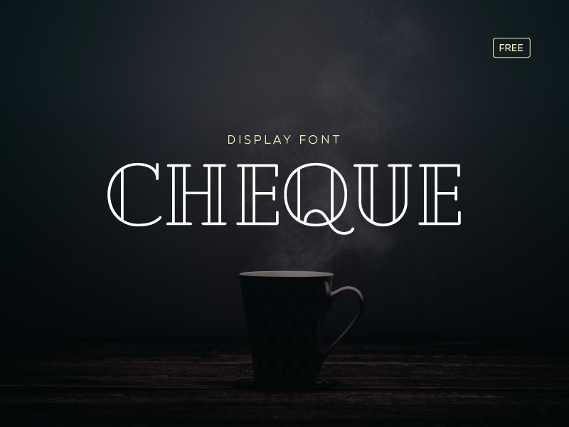 Cheque Free Font preview picture