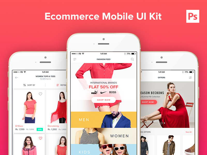 Ecommerce Mobile UI Kit preview picture