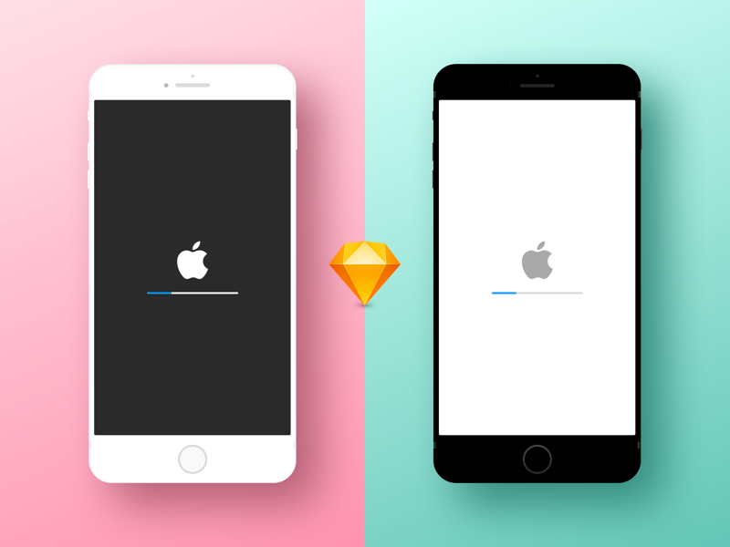 Minimal iPhone Device Mockup preview picture