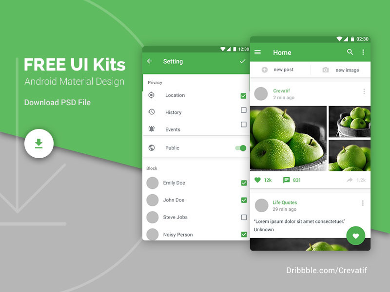 Android Material Design Ui Kits