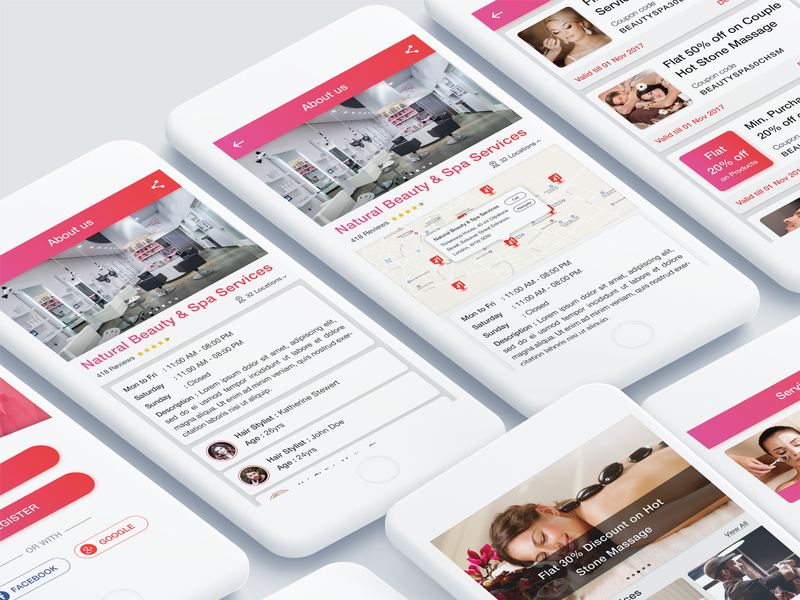 Natural Beauty and Spa Salon App UI Kit