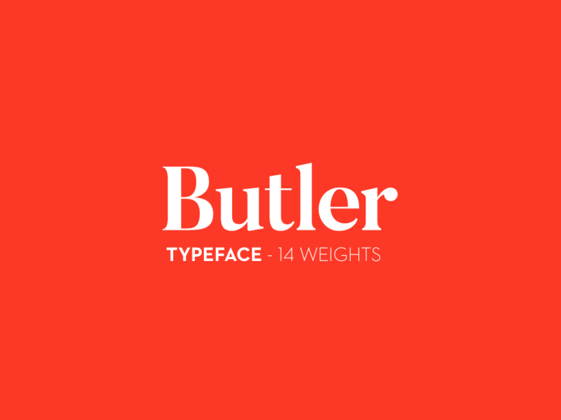 Butler - Free Font preview picture