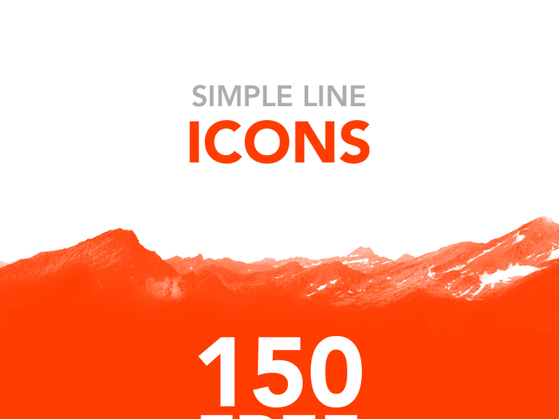 Simple Line Icons [AI] [Sketch] preview picture