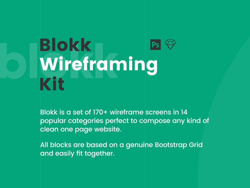 Blokk Wireframe Kit preview picture