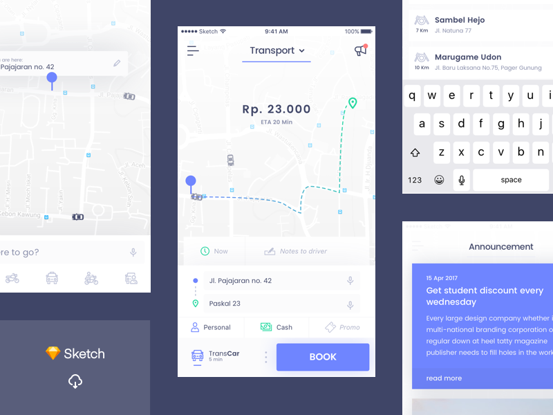 Online Transport UI preview picture