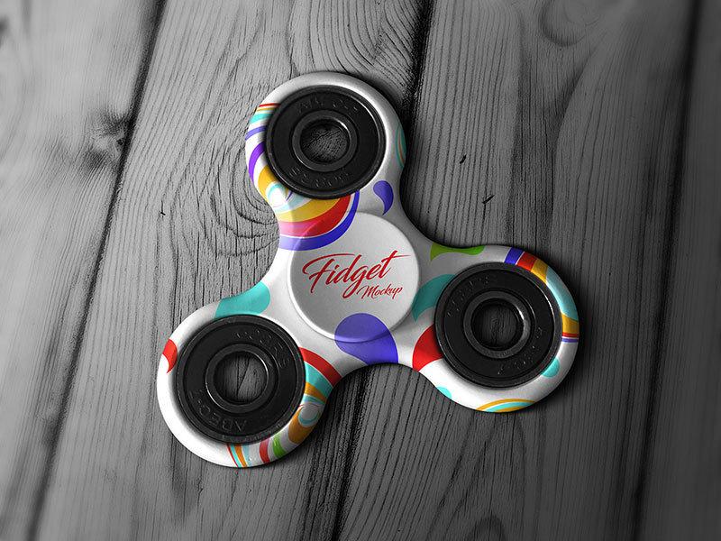 Fidget Spinner Hand Toy Mockup PSD preview picture