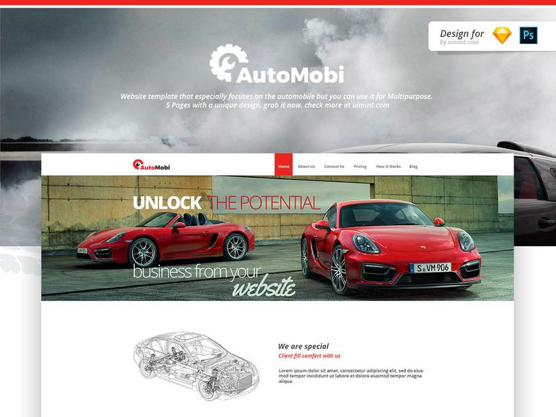 Automobi Web Template