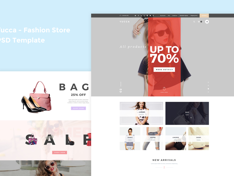 Yucca - Fashion Store PSD Template preview picture