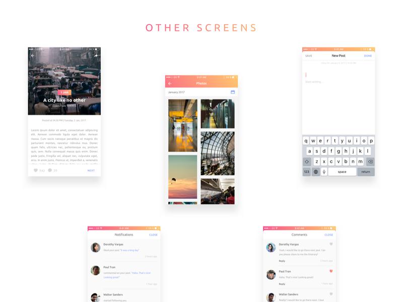 Everyday iOS Journal App UI Kit