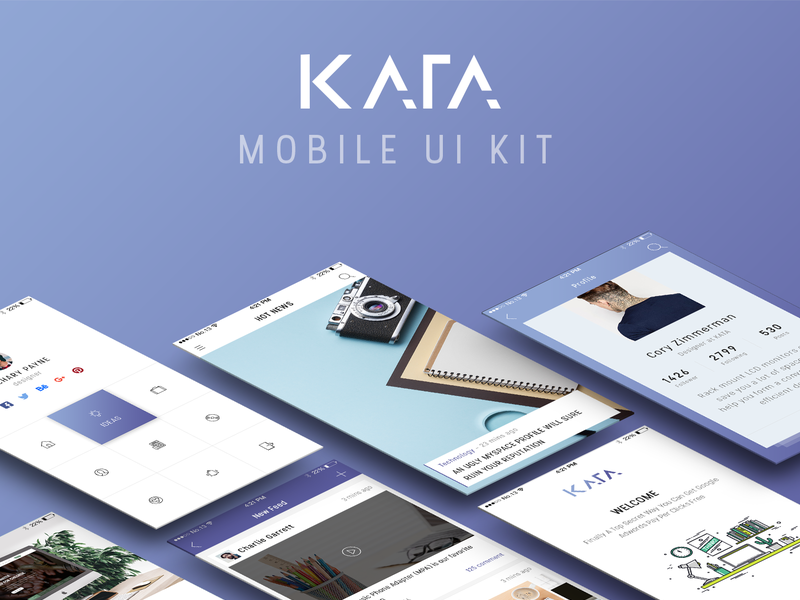 Kata Mobile UI Kit preview picture