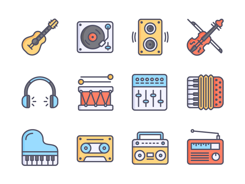 Music Icons Color