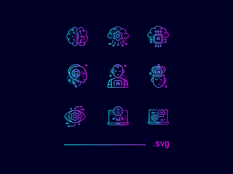 Artificial Intelligence Icons preview picture